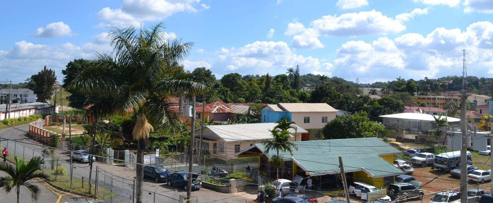 A colourful neighbourhood seen while volunteering in Jamaica with Projects Abroad.